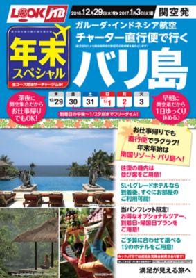 年末スペシャル ガルーダ・インドネシア航空チャーター直行便で行くバリ島