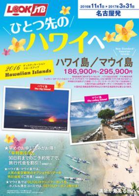 【11月〜3月】ひとつ先のハワイへ ハワイ島・マウイ島・カウアイ島