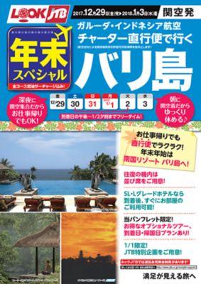 年末スペシャル ガルーダ・インドネシア航空チャーター直行便で行く バリ島
